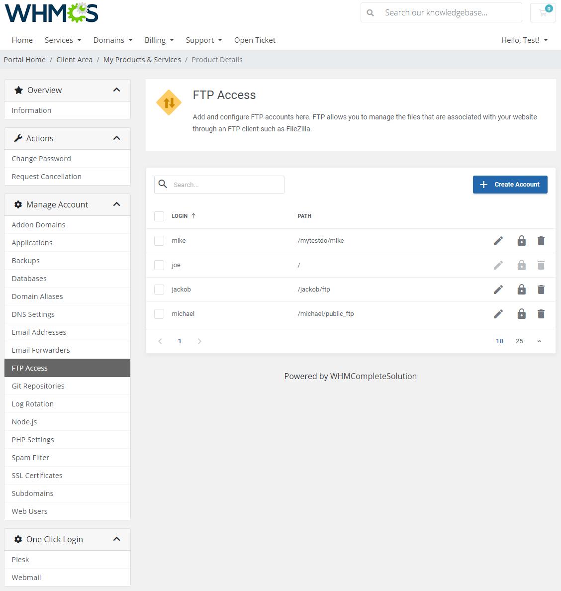 Plesk Extended For WHMCS: Module Screenshot 11