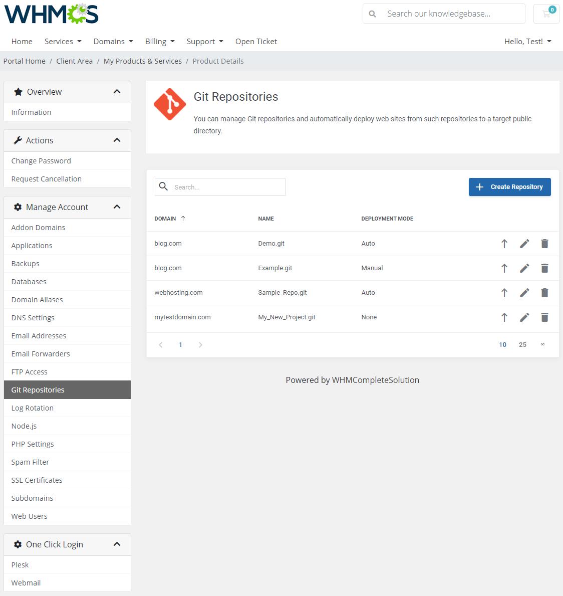 Plesk Extended For WHMCS: Module Screenshot 12