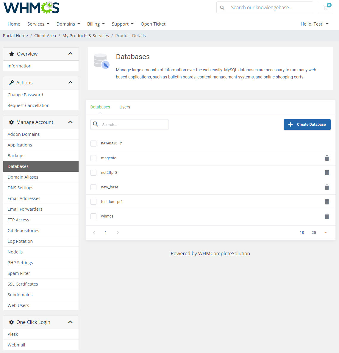 Plesk Extended For WHMCS: Module Screenshot 6