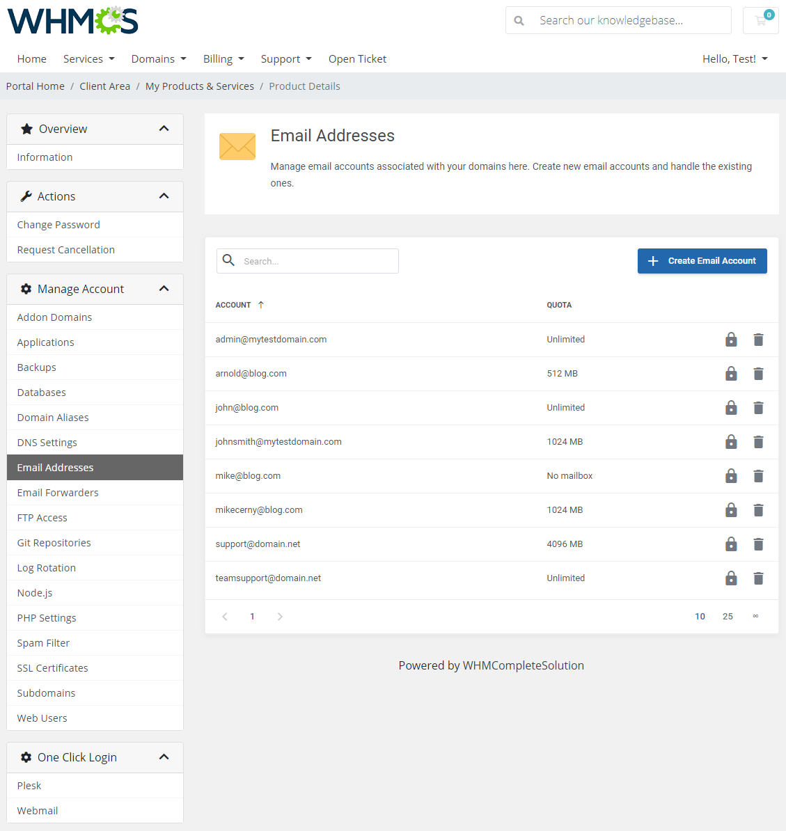 Plesk Extended For WHMCS: Module Screenshot 9