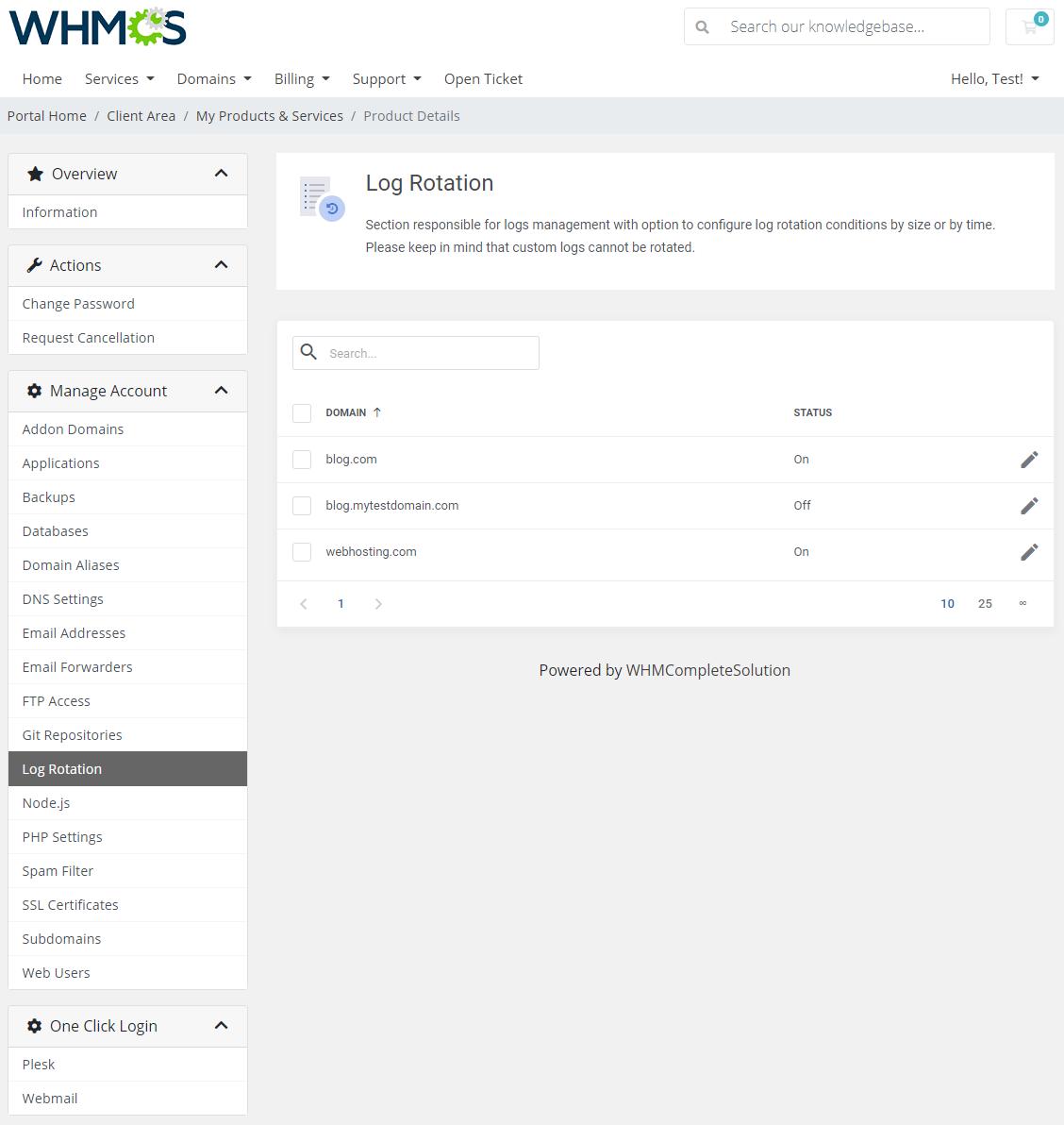 Plesk Extended For WHMCS: Module Screenshot 13