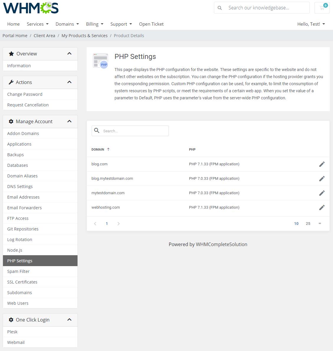 Plesk Extended For WHMCS: Module Screenshot 15