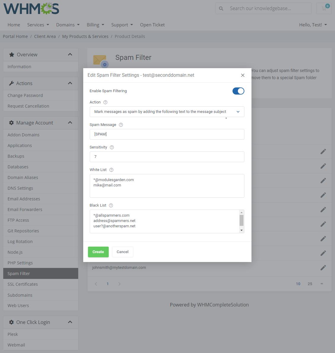 Plesk Extended For WHMCS: Module Screenshot 17