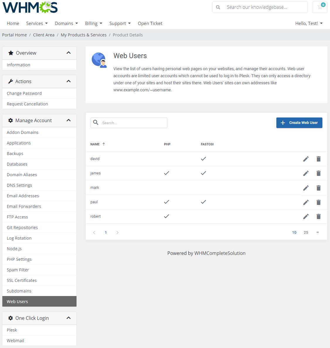 Plesk Extended For WHMCS: Module Screenshot 21