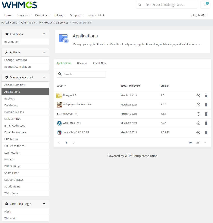 Plesk Extended For WHMCS: Module Screenshot 3