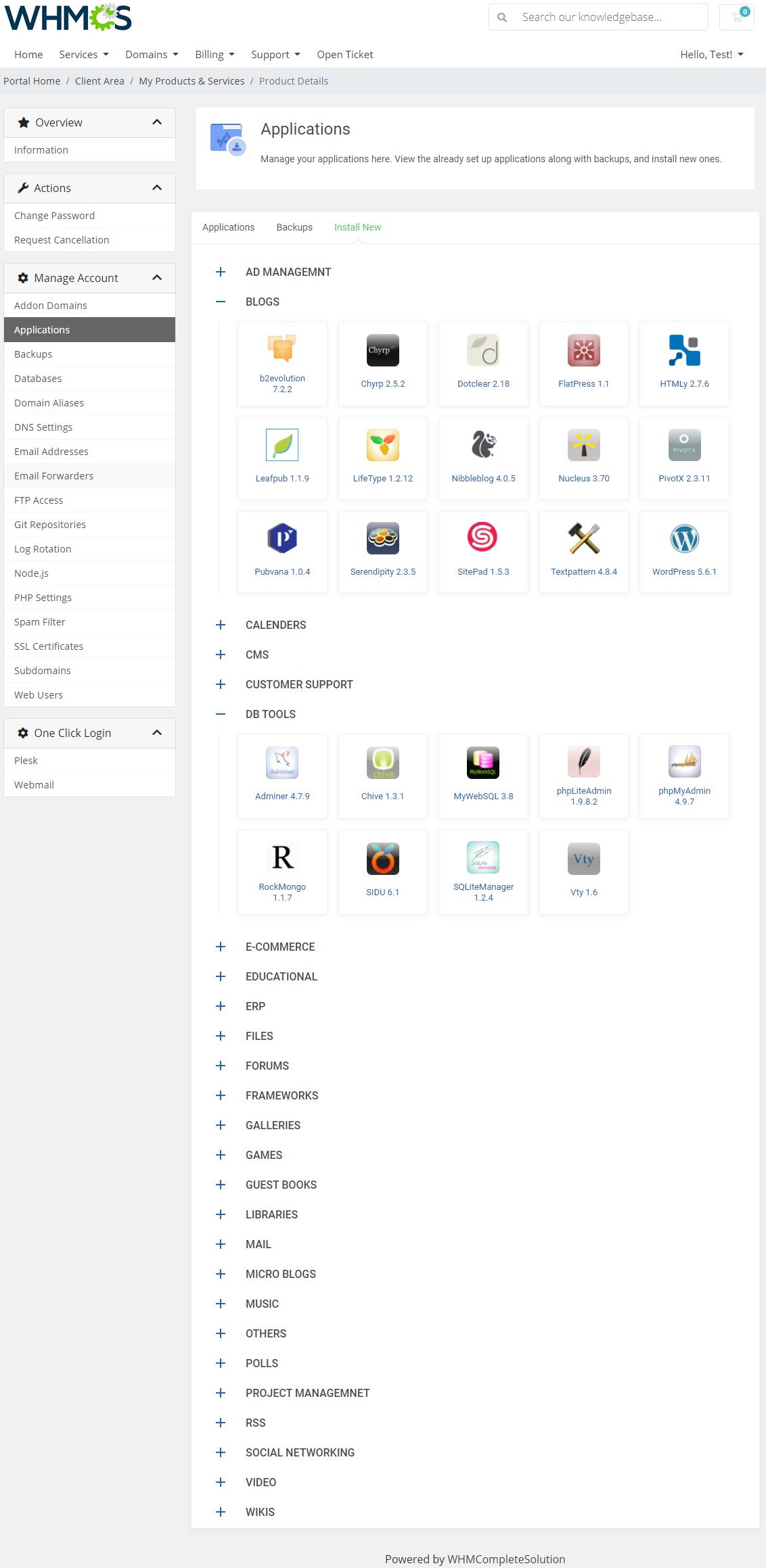 Plesk Extended For WHMCS: Module Screenshot 4