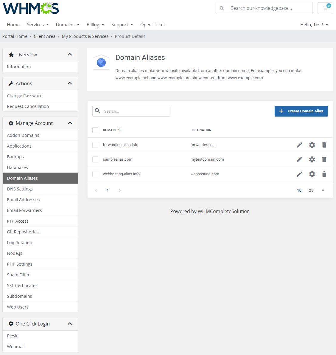 Plesk Extended For WHMCS: Module Screenshot 7