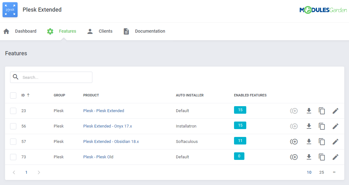 Plesk Extended For WHMCS: Module Screenshot 29