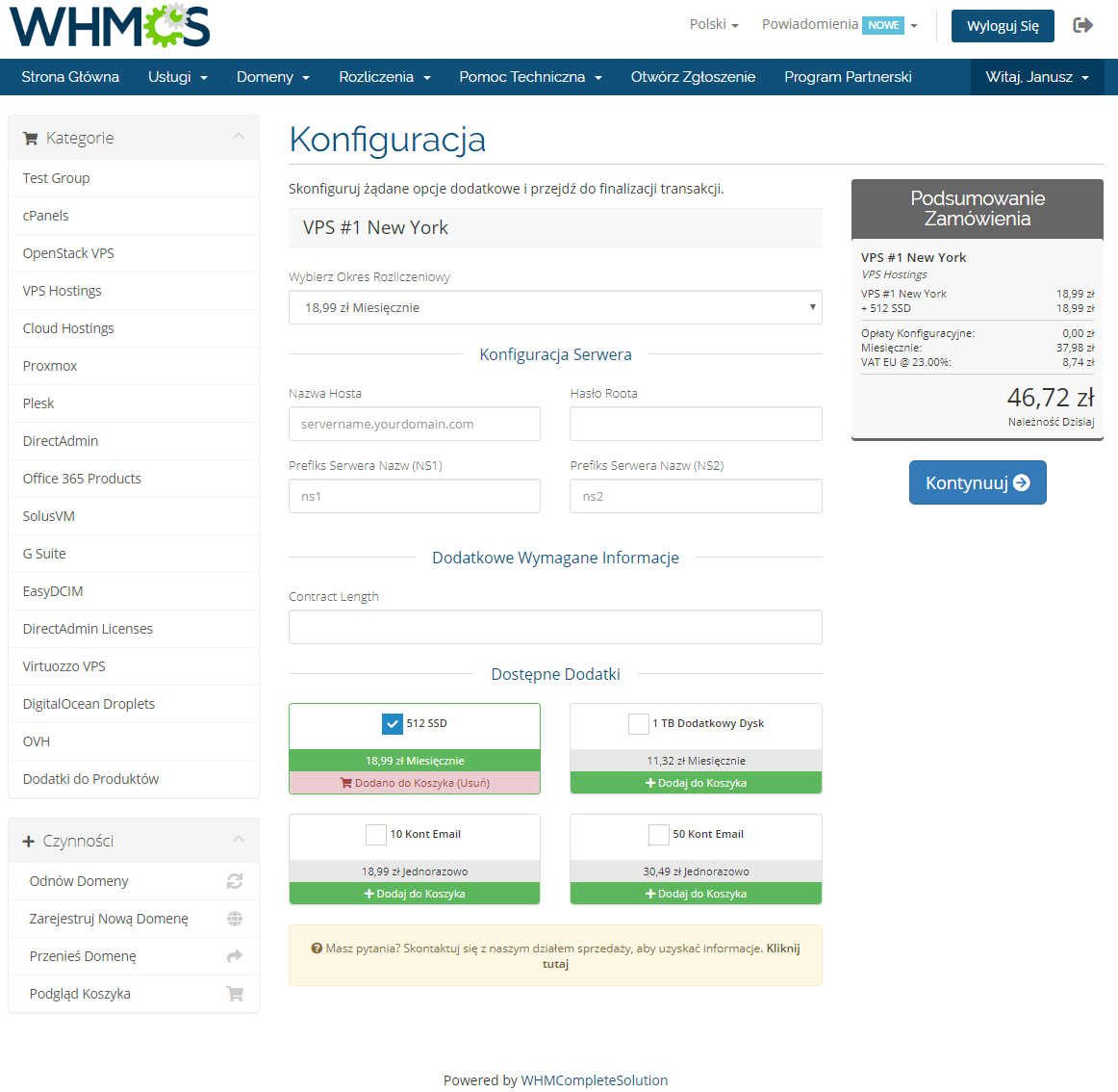 Polish Language Translation For WHMCS: Module Screenshot 9