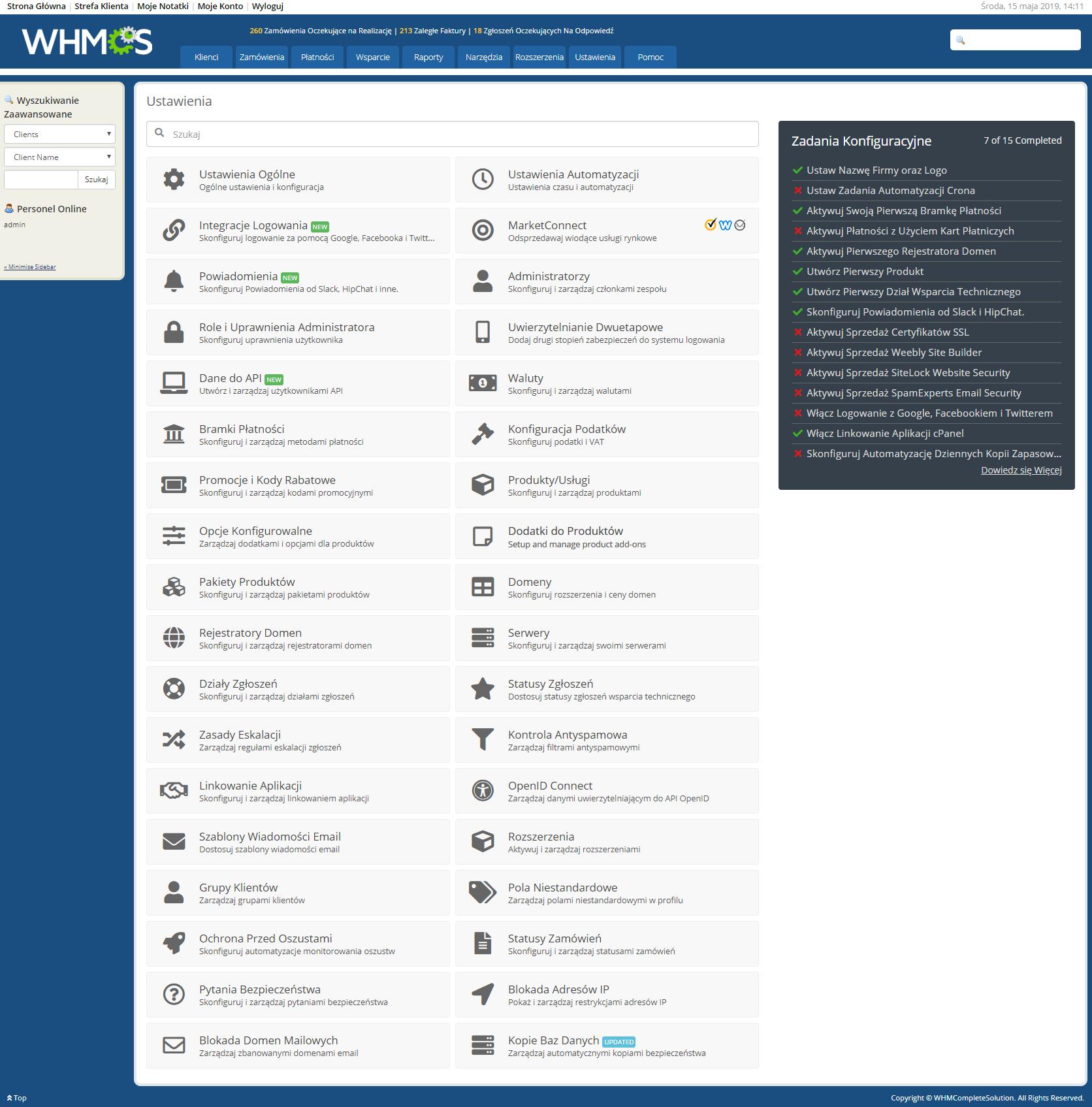 Polish Language Translation For WHMCS: Module Screenshot 26