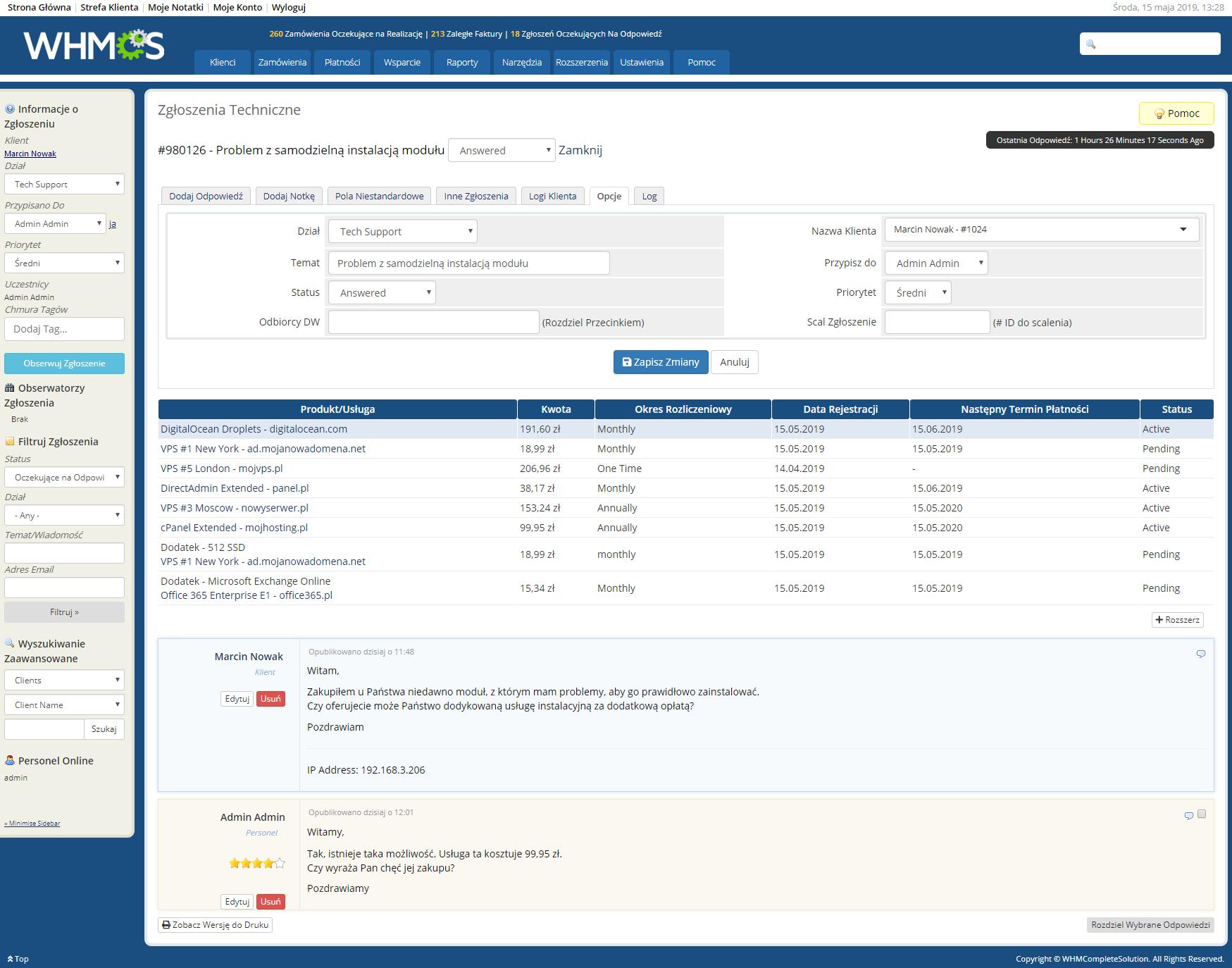 Polish Language Translation For WHMCS: Module Screenshot 23