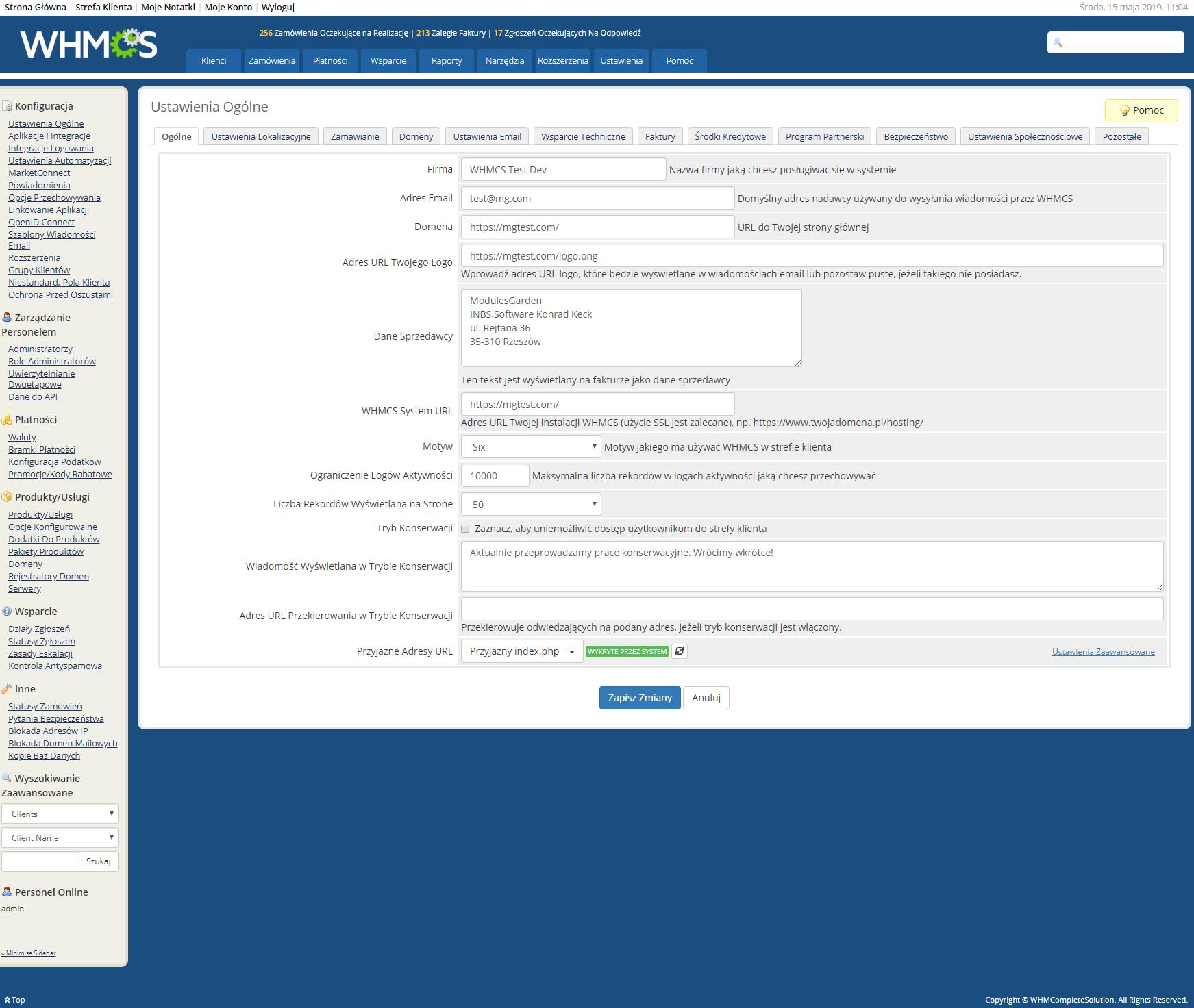 Polish Language Translation For WHMCS: Module Screenshot 27