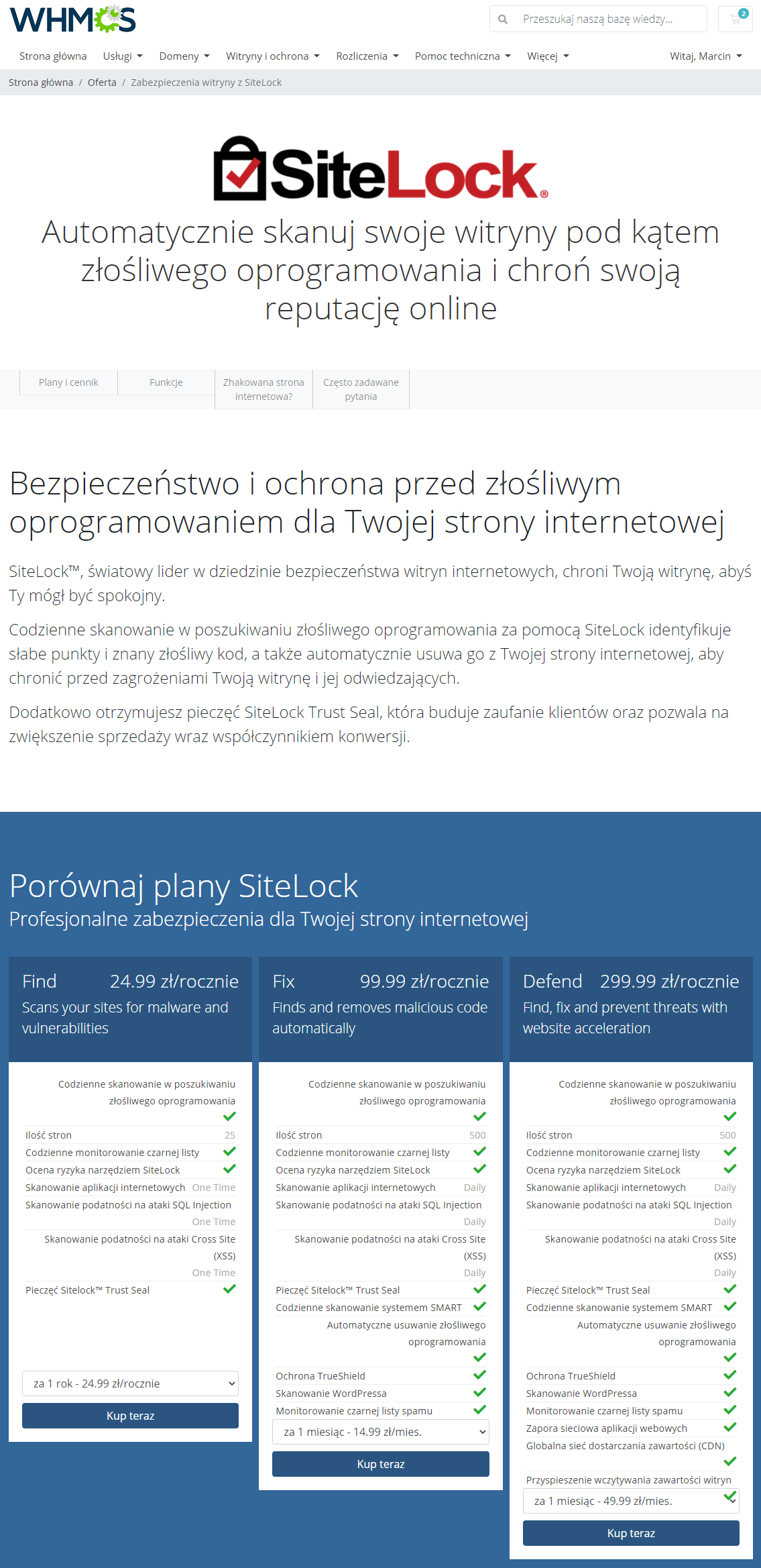 Polish Language Translation For WHMCS: Module Screenshot 17