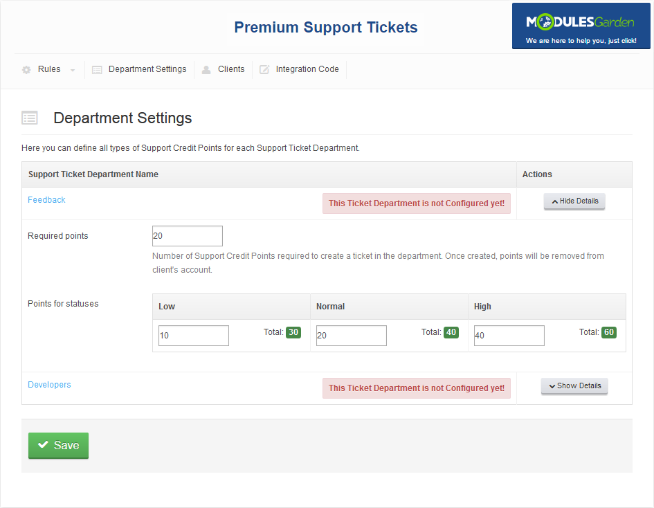 Premium Support Tickets For WHMCS: Screen 5