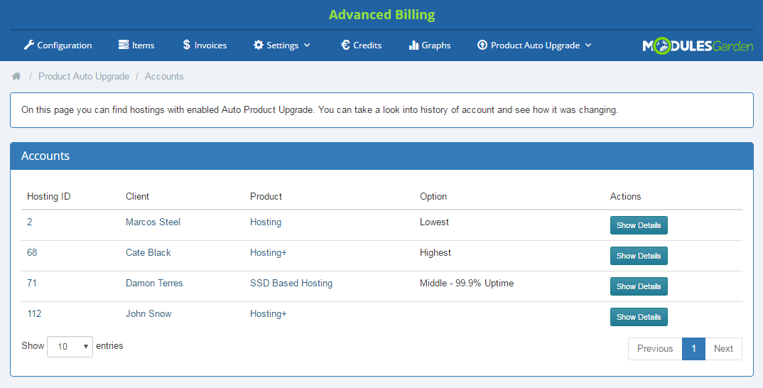 Product Auto Upgrade For WHMCS: Screen 12
