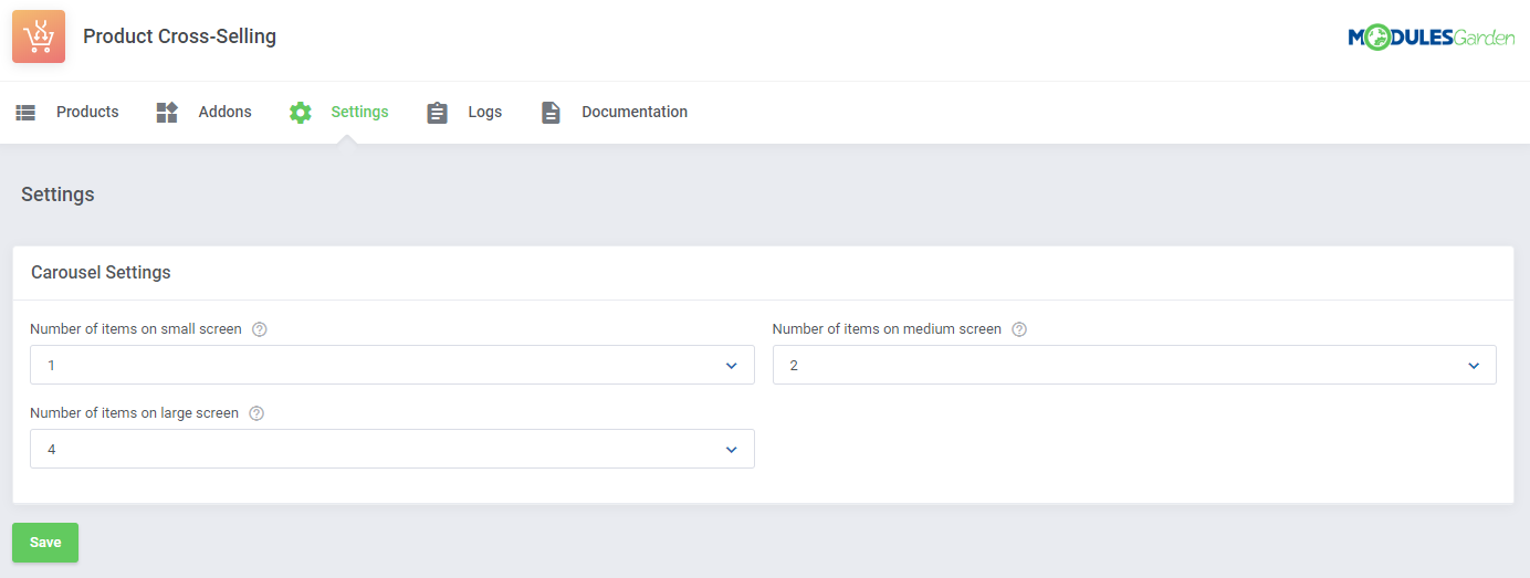 Product Cross-Selling For WHMCS: Module Screenshot 10