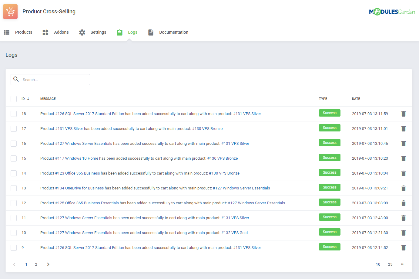 Product Cross-Selling For WHMCS: Module Screenshot 11