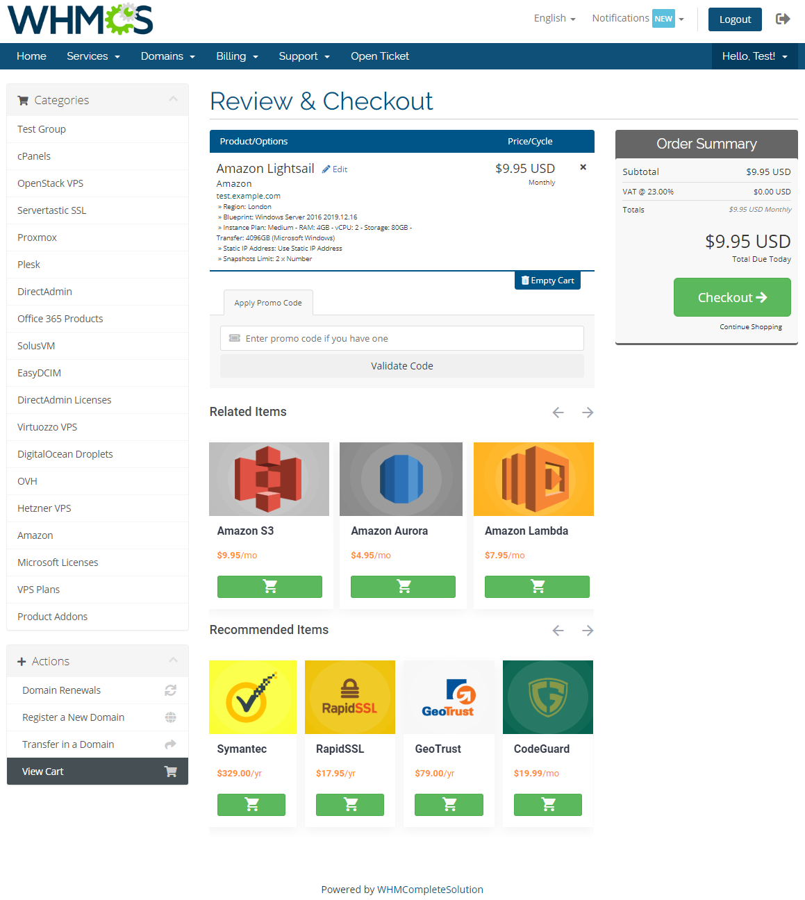 Product Cross-Selling For WHMCS: Module Screenshot 4