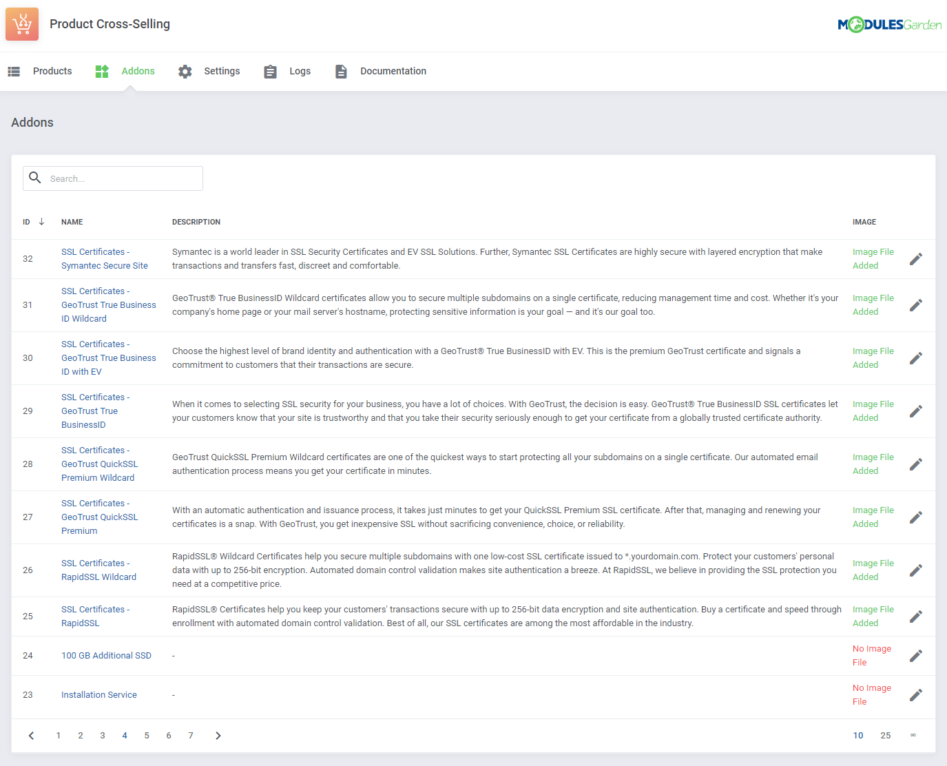 Product Cross-Selling For WHMCS: Module Screenshot 9