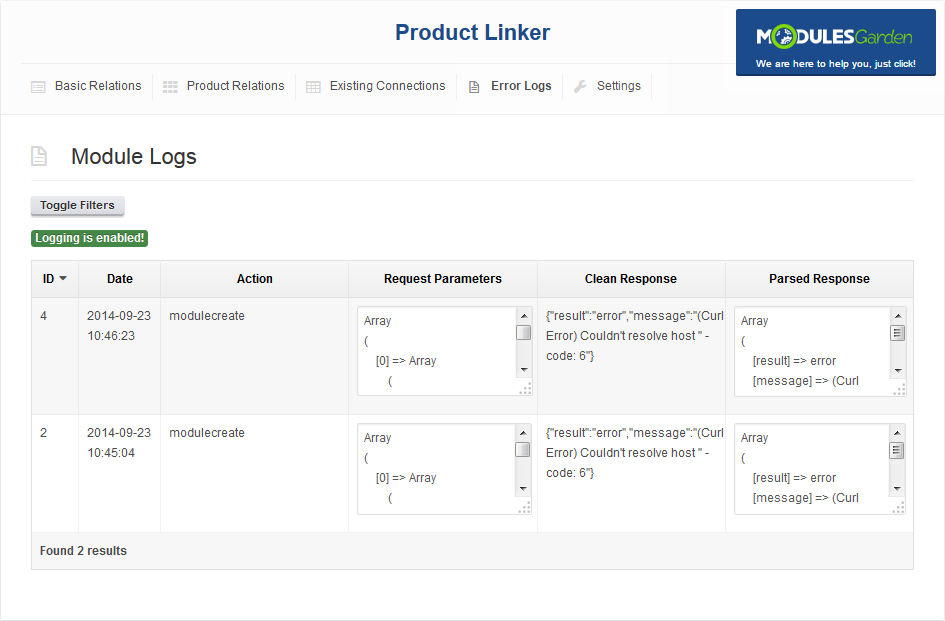 Product Linker For WHMCS: Screen 4