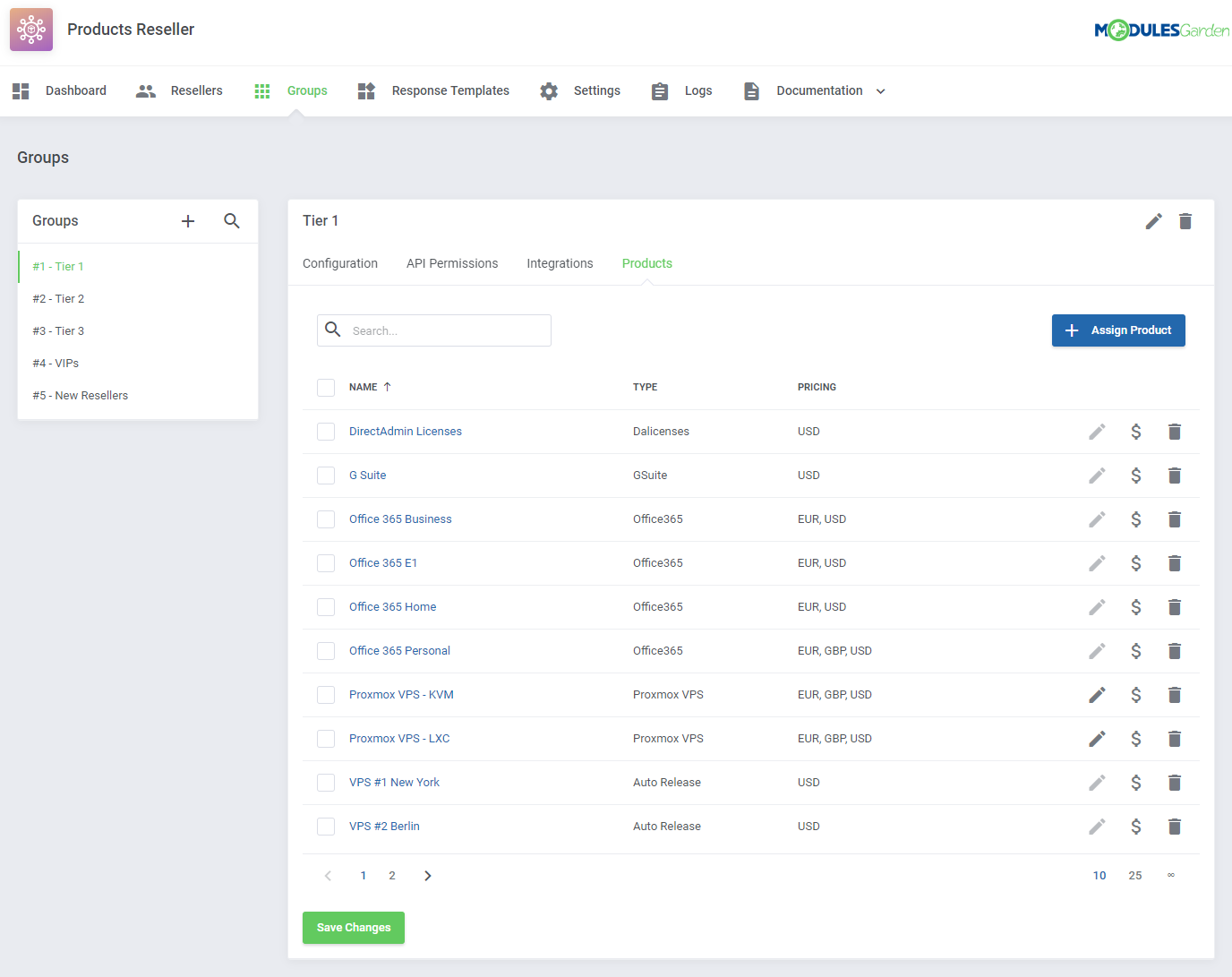 Products Reseller For WHMCS: Module Screenshot 11