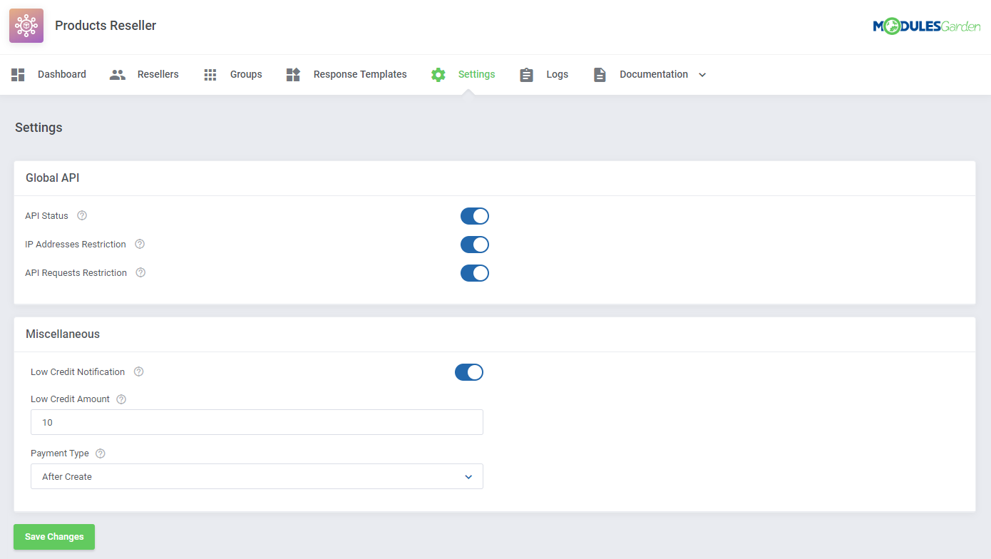 Products Reseller For WHMCS: Module Screenshot 15