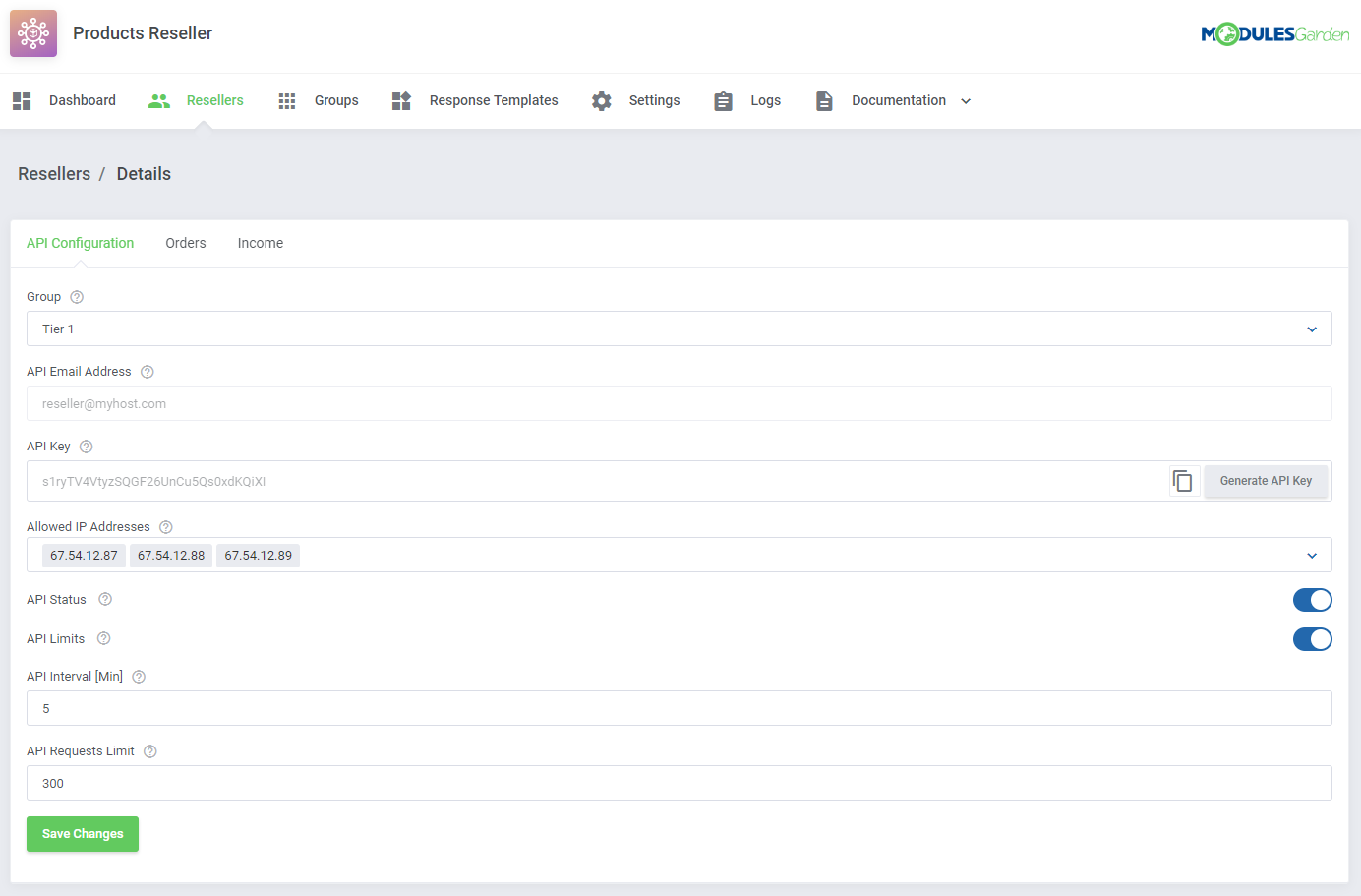 Products Reseller For WHMCS: Module Screenshot 4