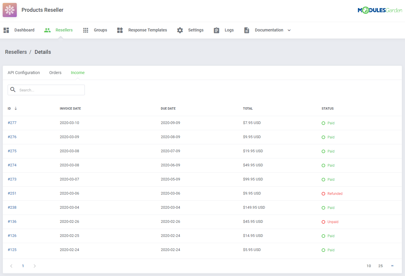 Products Reseller For WHMCS: Module Screenshot 6