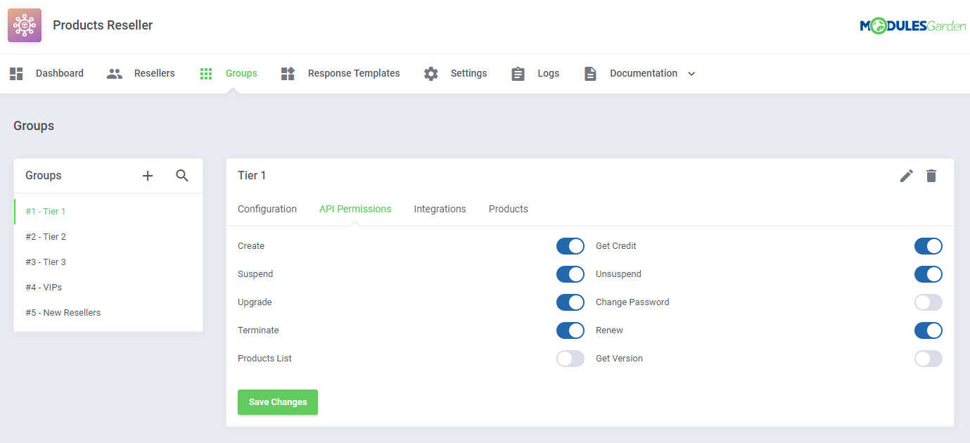 Products Reseller For WHMCS: Module Screenshot 8