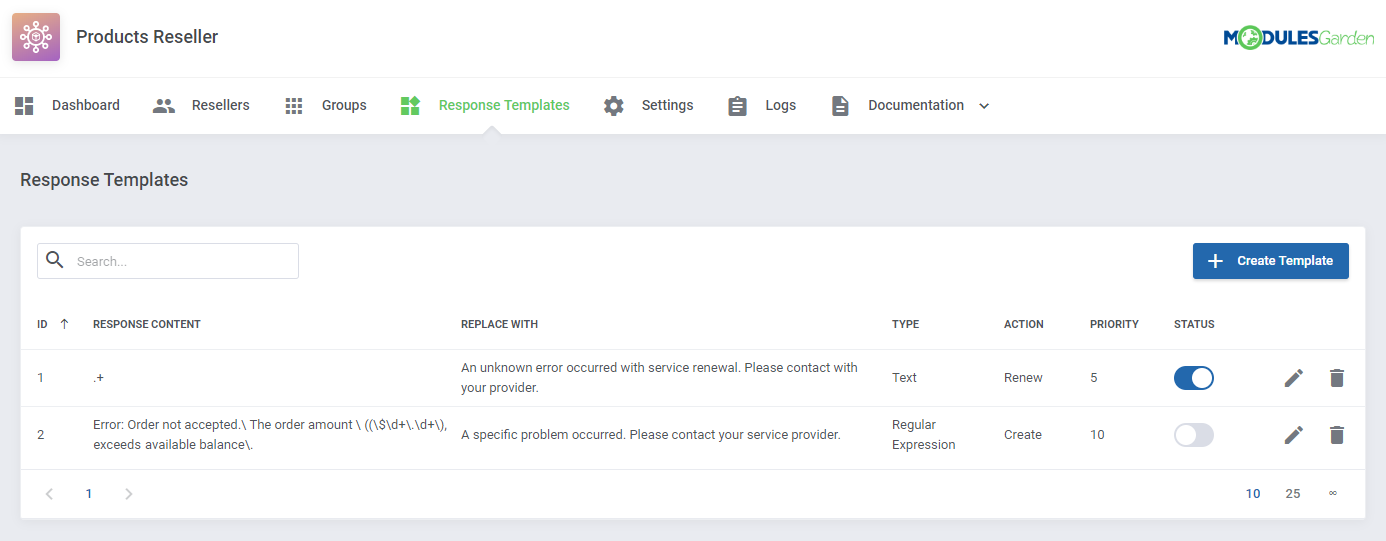 Products Reseller For WHMCS: Module Screenshot 14