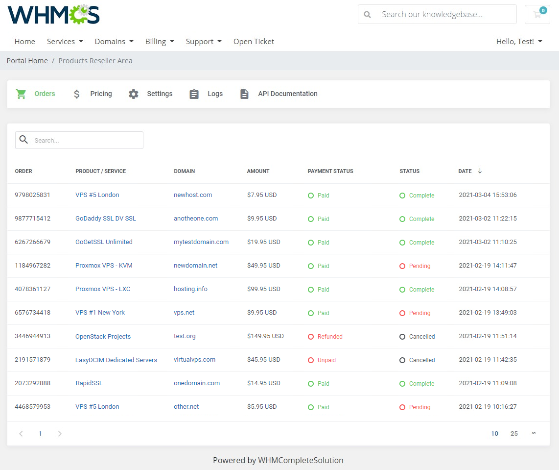 Products Reseller For WHMCS: Module Screenshot 20
