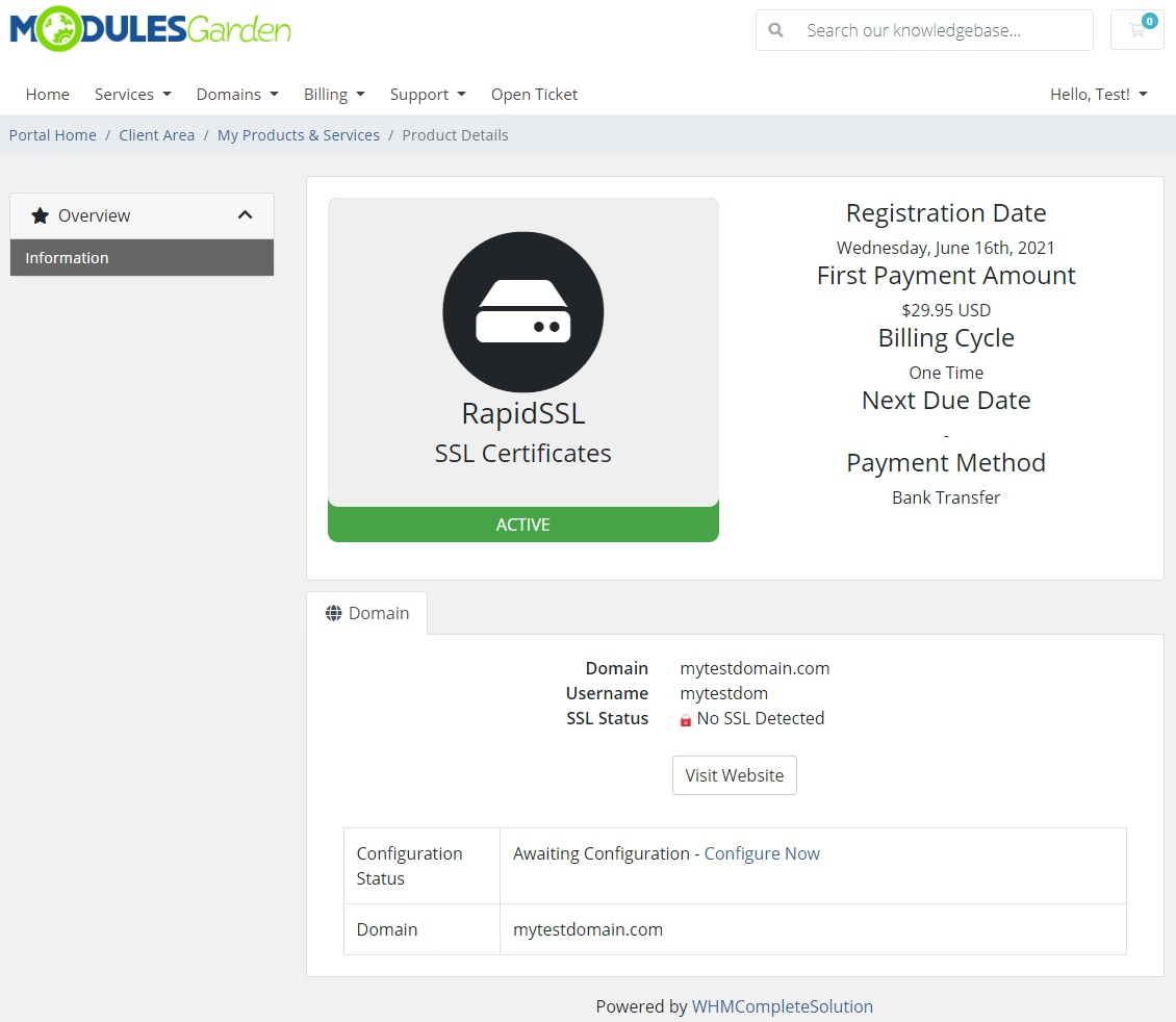 Products Reseller For WHMCS: Module Screenshot 31