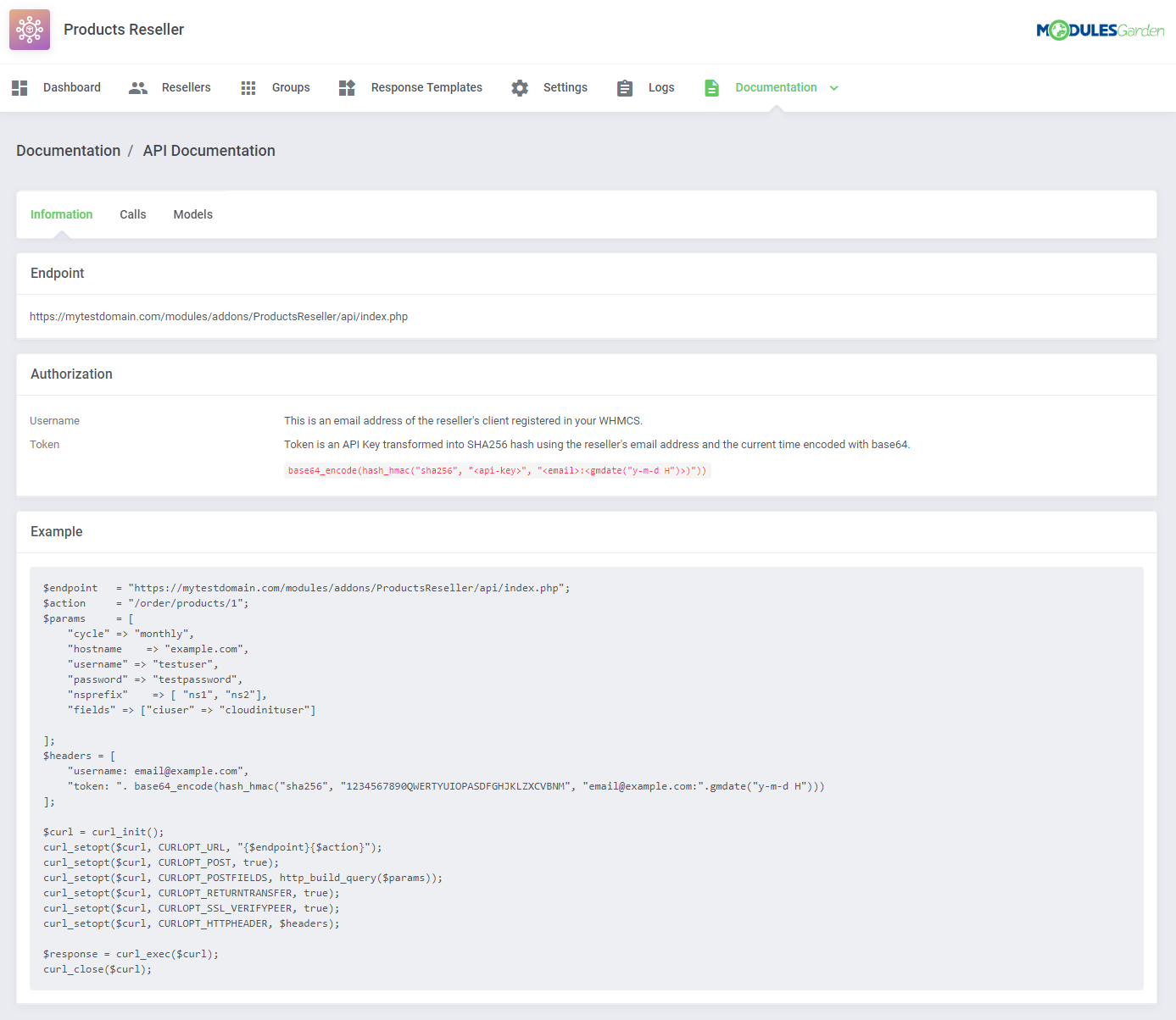 Products Reseller For WHMCS: Module Screenshot 19