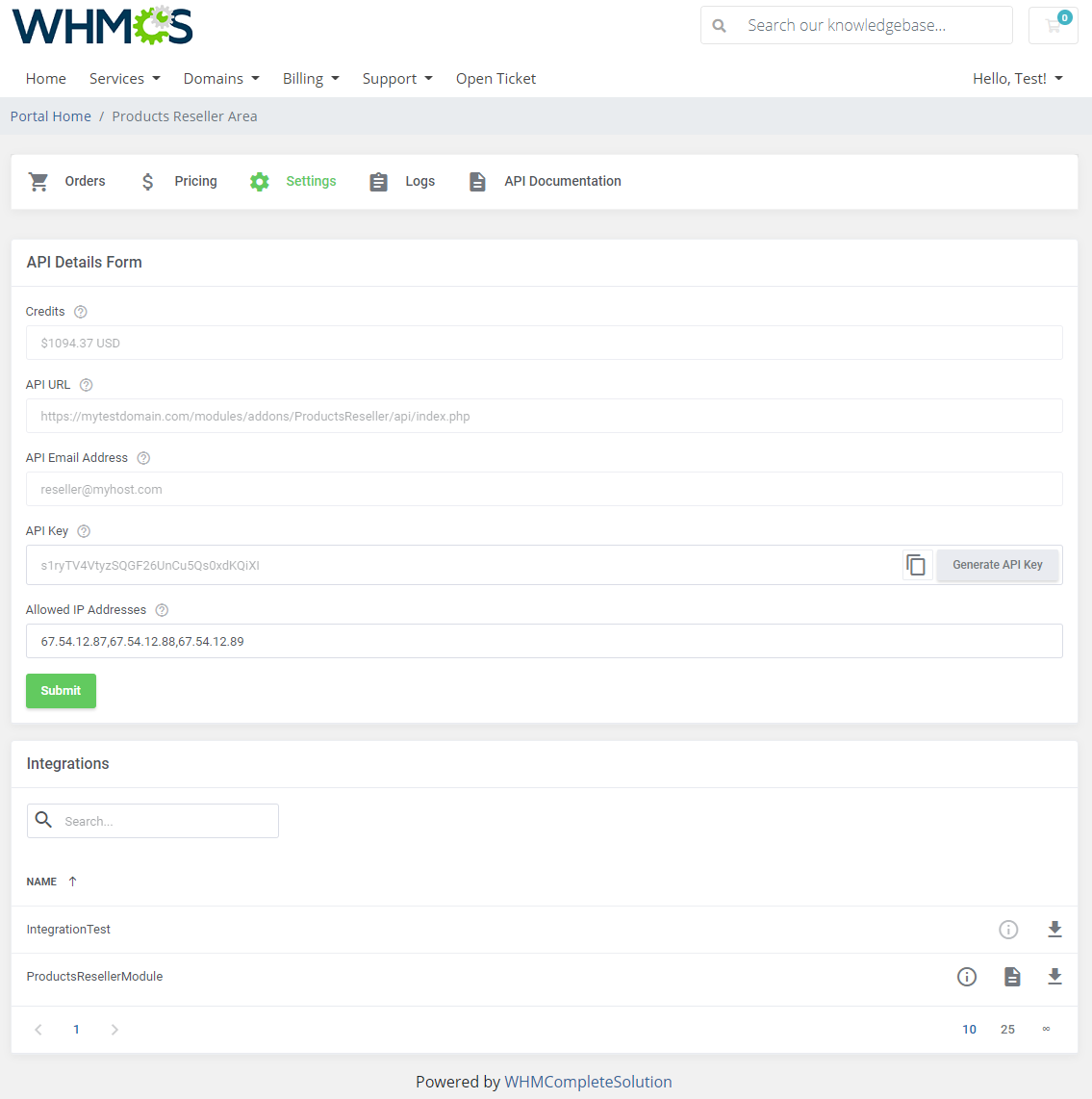 Products Reseller For WHMCS: Module Screenshot 23