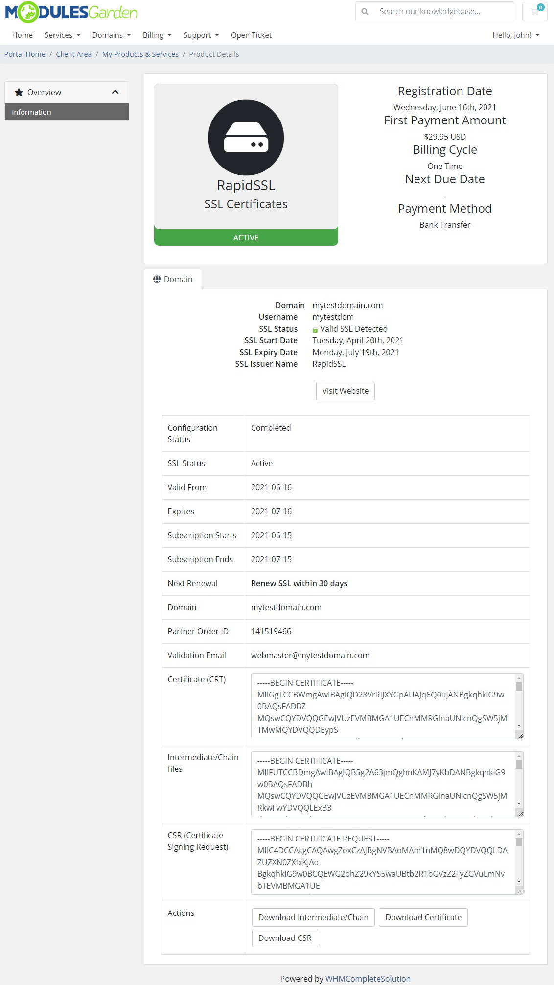 Products Reseller For WHMCS: Module Screenshot 34