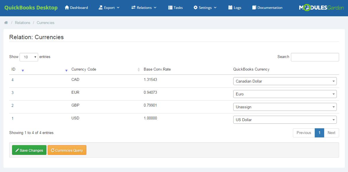 QuickBooks Desktop For WHMCS: Screen 11