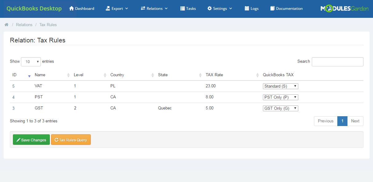 QuickBooks Desktop For WHMCS: Module Screenshot 13