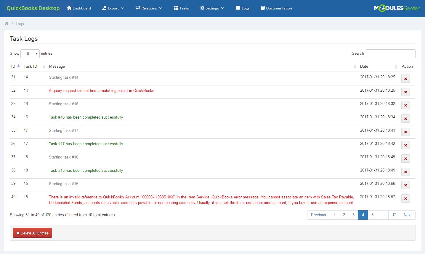 QuickBooks Desktop For WHMCS: Module Screenshot 22