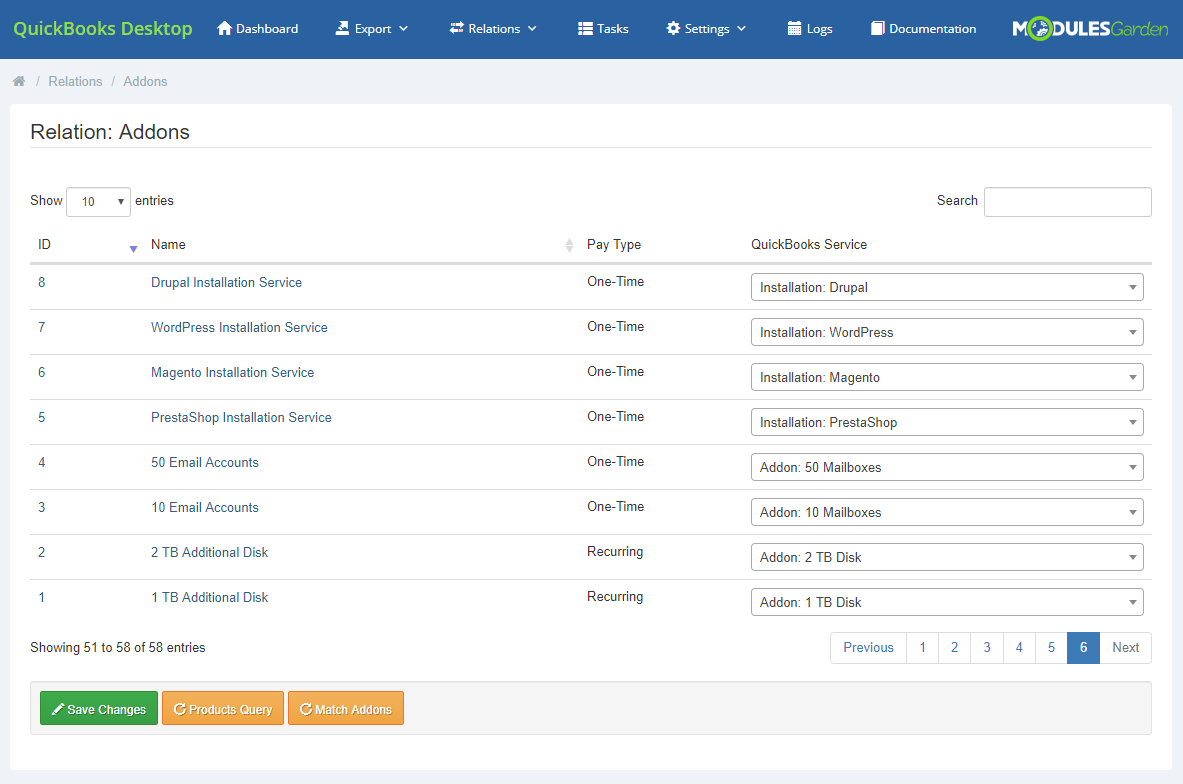 QuickBooks Desktop For WHMCS: Module Screenshot 12