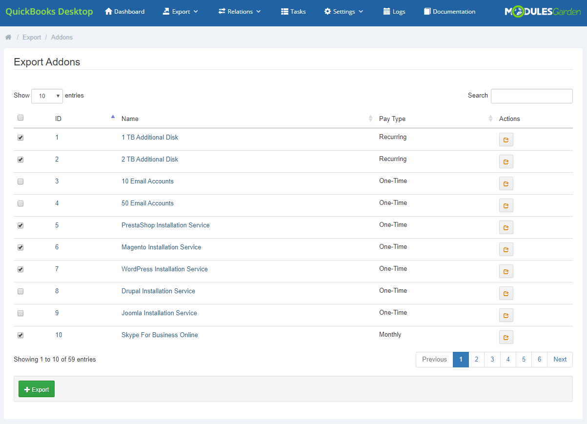 QuickBooks Desktop For WHMCS: Module Screenshot 7