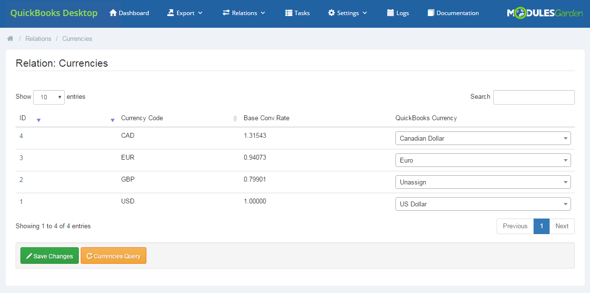 QuickBooks Desktop For WHMCS: Module Screenshot 15