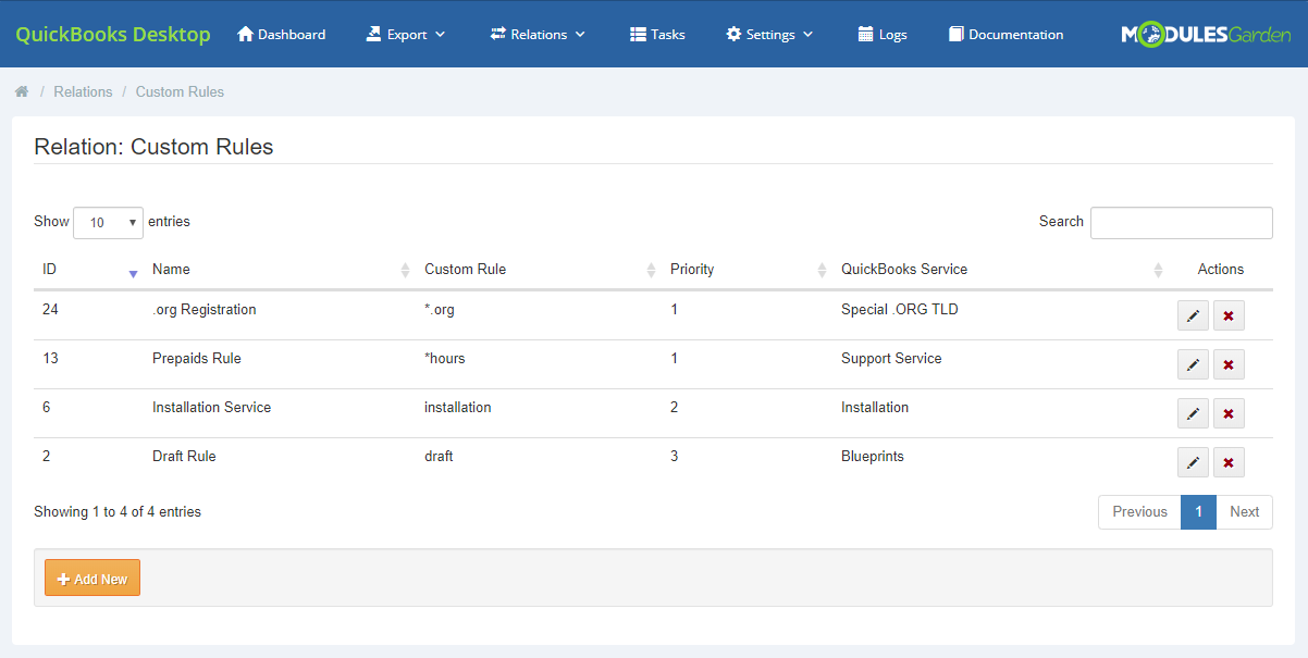 QuickBooks Desktop For WHMCS: Module Screenshot 18