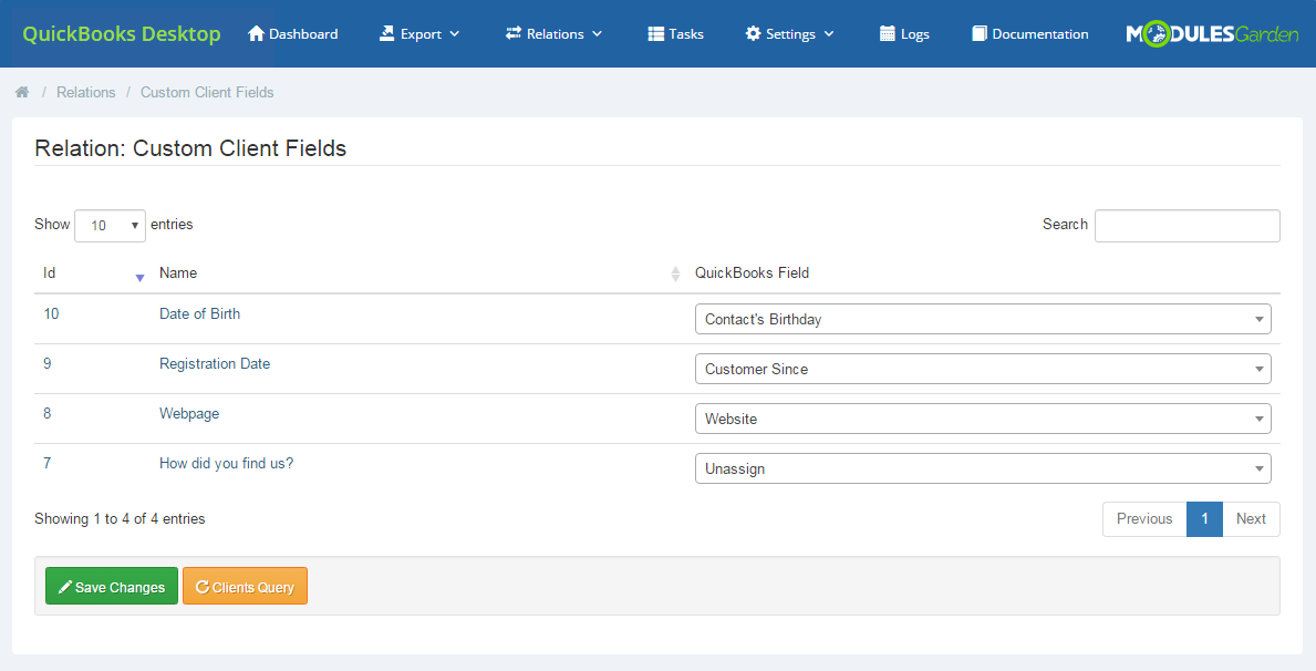 QuickBooks Desktop For WHMCS: Module Screenshot 9