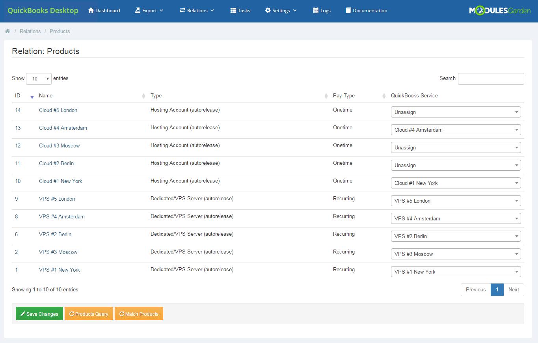 QuickBooks Desktop For WHMCS: Module Screenshot 10