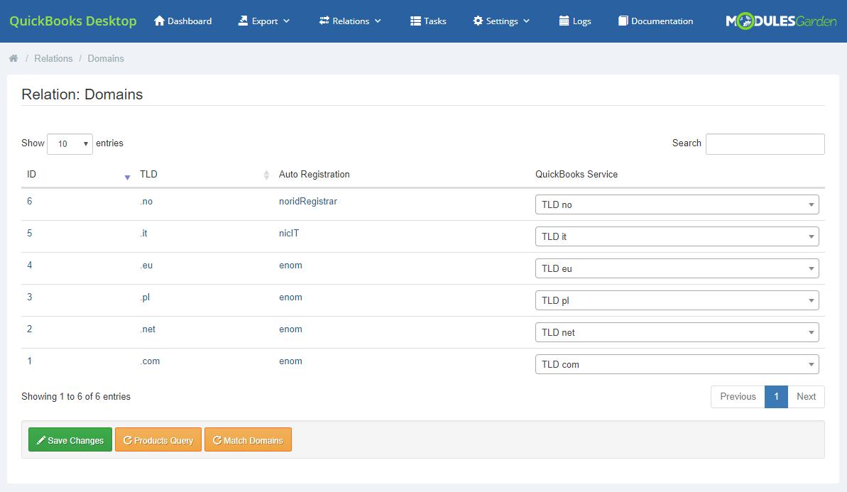 QuickBooks Desktop For WHMCS: Module Screenshot 11