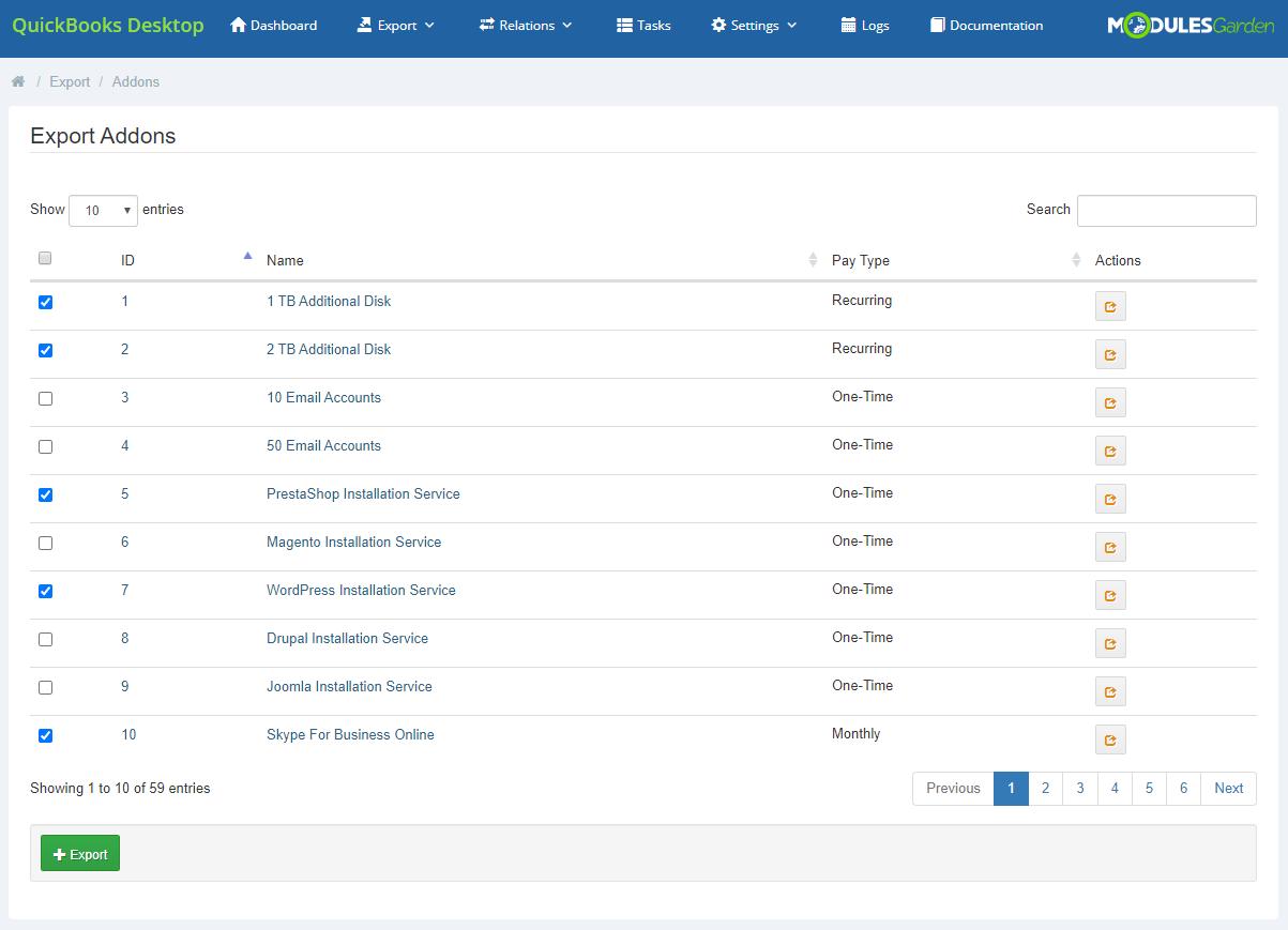 QuickBooks Desktop For WHMCS: Module Screenshot 7