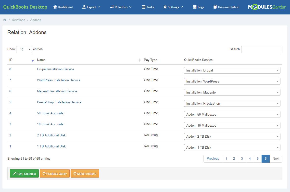 QuickBooks Desktop For WHMCS: Module Screenshot 12
