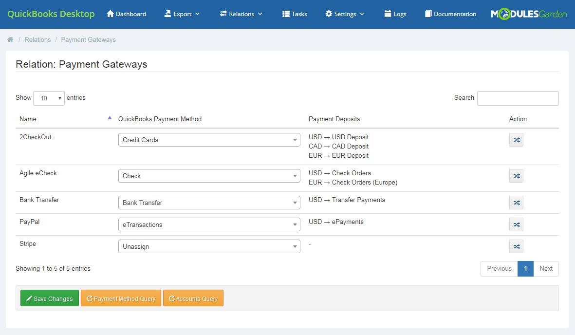 QuickBooks Desktop For WHMCS: Module Screenshot 16
