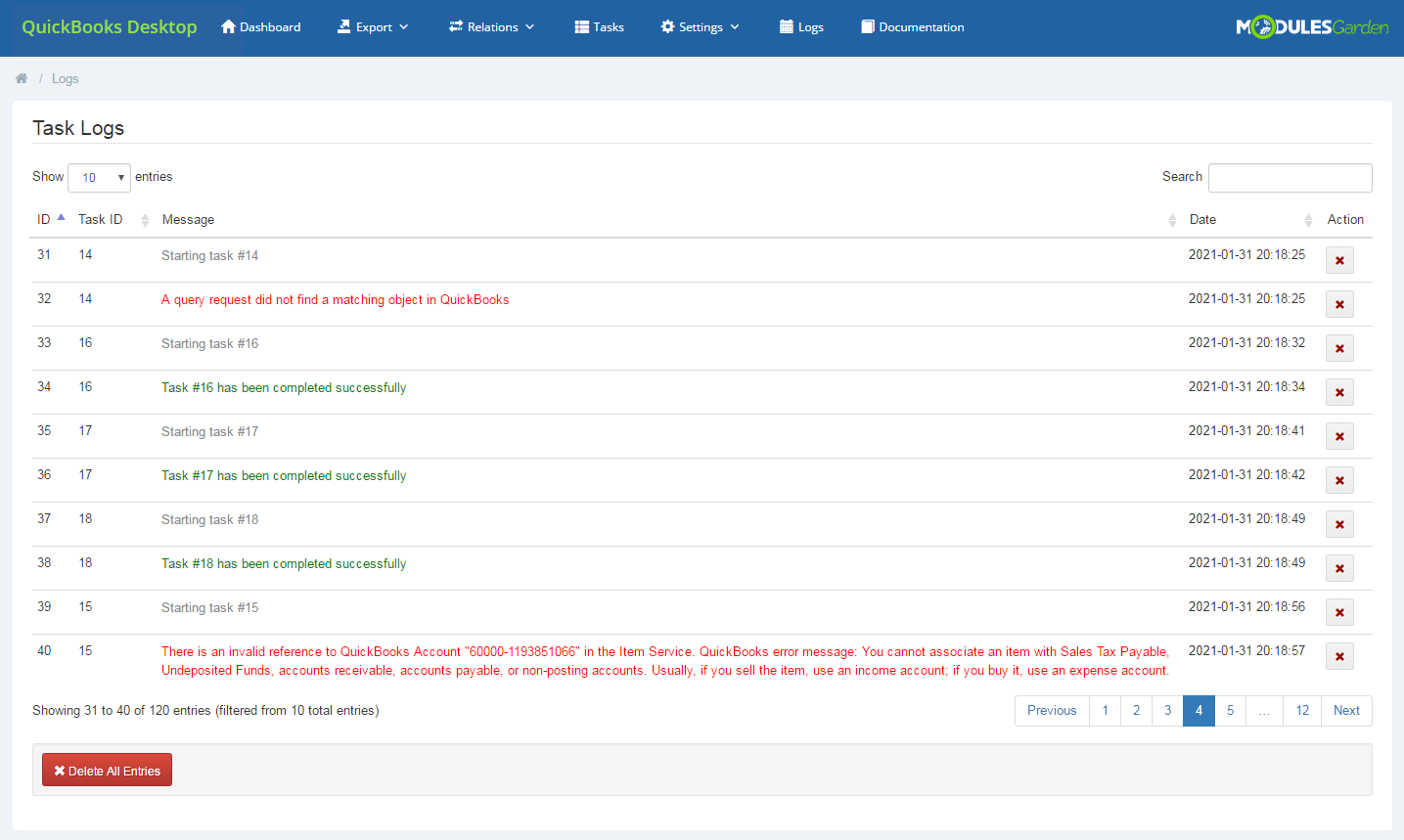 QuickBooks Desktop For WHMCS: Module Screenshot 24