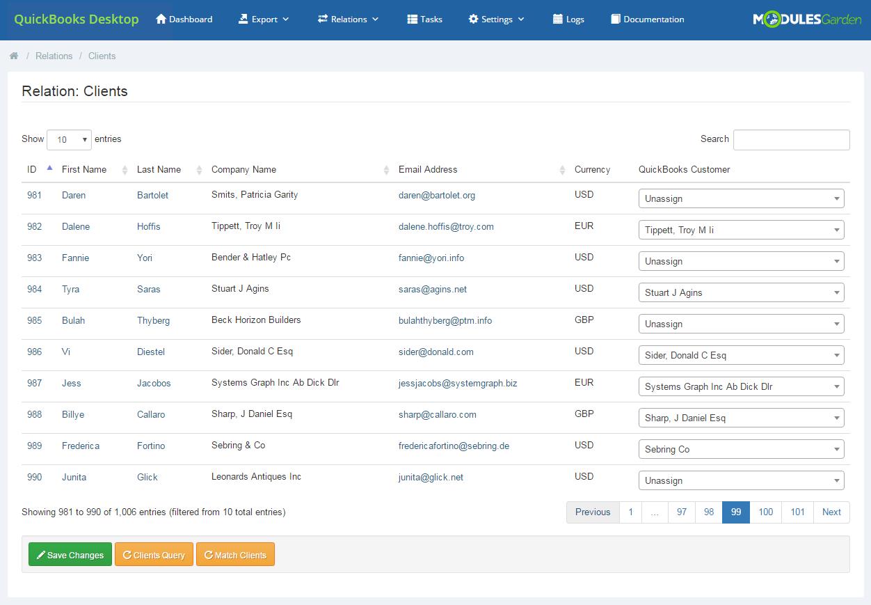 QuickBooks Desktop For WHMCS: Module Screenshot 8
